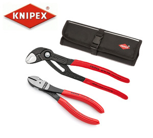 KNIPEX 87 01 250 & KNIPEX 74 01 160 Plier Set with pouch 크니펙스(크니픽스) 플라이어 세트 (파우치 포함)
