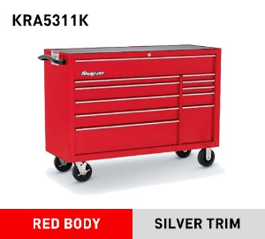 "KRA5311K 53"" 11-Drawer Double-Bank Heritage Series Roll Cab, Red 스냅온 헤리티지 시리즈 53"" 더블 뱅크 툴박스 레드"