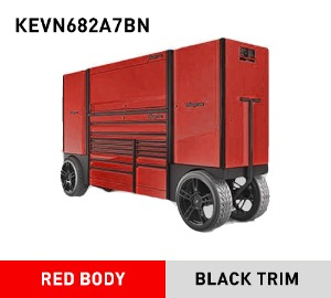 KEVN682A7BN Double-Bank EPIQ Utility Vehicle with SpeeDrawer, Red/Black (EUV) 스냅온 EPIQ 시리즈 스페셜 오더 컬러 레드/블랙 EUV 툴박스