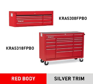 "KRA5308FPBO Top Chest, Double Bank, 8 Drawers, 53"" Wide 탑체스트 + KRA5318FPBO 53"" 18 Drawer Triple Bank Heritage Series Roll Cab 툴박스 세트"