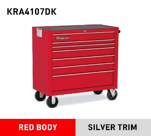"KRA4107DK 40"" Seven-Drawer Single Bank Heritage Series Roll Cab (Red) 스냅온 헤리티지 시리즈 40인치 툴박스 (레드)"