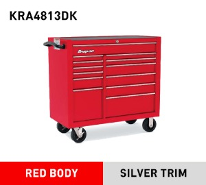 "KRA4813DK 40"" 13-Drawer Double-Bank Heritage Series Roll Cab (Red) 스냅온 헤리티지 시리즈 40인치 13서랍 툴박스 (레드)"