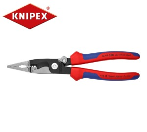 KNIPEX 13 92 200 Pliers for Electrical Installation with soft grip and opening spring 크니펙스 (크니픽스) 전기 설치용 다기능 플라이어