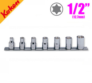 "KOKEN RS4425/7 1/2"" Drive TORX Socket Set (7 pcs) 코켄 1/2"" 별소켓 레일세트 (7 pcs)"