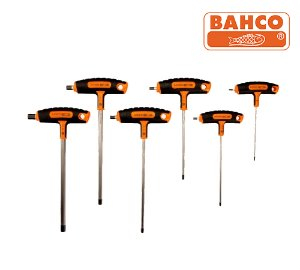 BAHCO 903T-1 Hex Screwdriver Set with T-Handle Grip 바코 3-10mm T핸들 육각렌치 세트