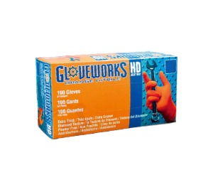 AGPGWON48100 Gloveworks® HD Orange Nitrile Gloves (XL size) 스냅온 오렌지 니트릴 장갑 (XL 사이즈)