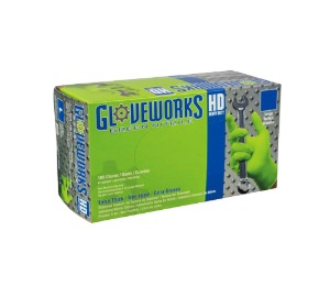 AGPGWGN48100 Gloveworks® HD Green Nitrile Gloves (XL size) 스냅온 그린 니트릴 장갑 (XL 사이즈)