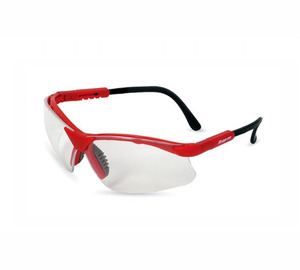 GLASS30R Glasses, Safety, Red Frame/Clear Lens