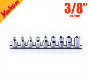 "KOKEN RS3425/9 Socket Set On Rail 코켄 3/8"" 별소켓 레일세트 (9pcs)"