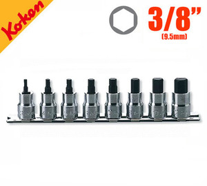 "KOKEN RS3010M/8-L38  3/8"" Drive Metric Hex Socket Set (8 pcs) 코켄 3/8"" 육각 소켓 세트 (8 pcs)"